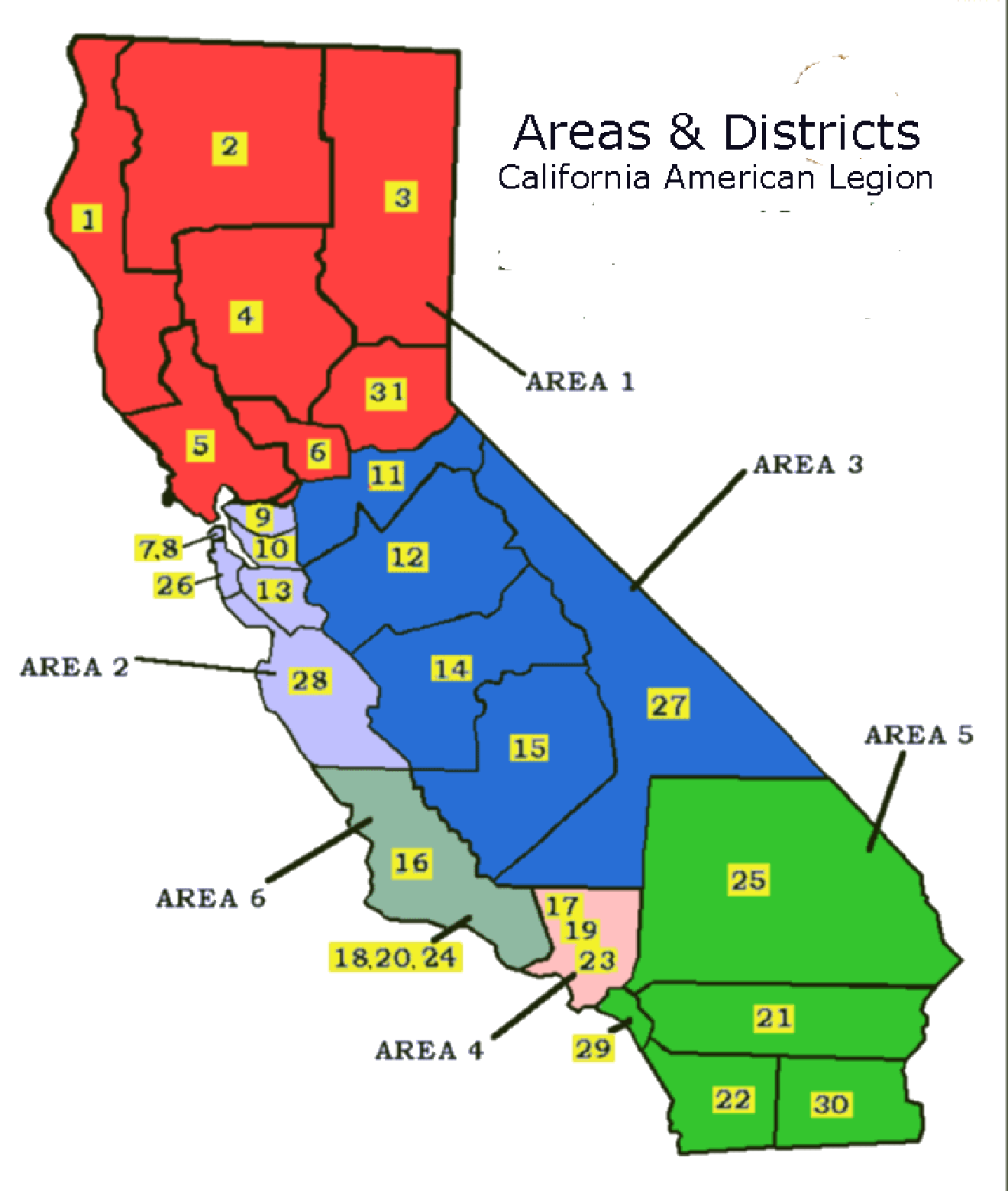 Areas & Districts